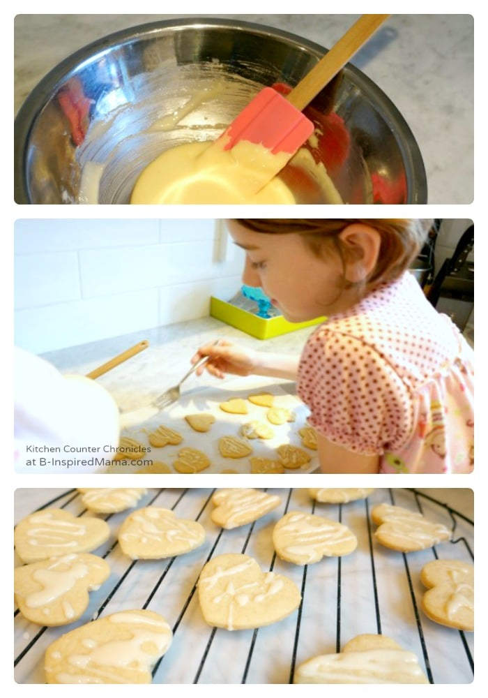 Making Maple Icing for Maple Cookies at B-Inspired Mama