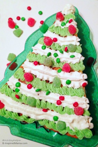 Semi-Homemade Christmas Cake Recipe for Kids - Sponsored #HolidayHelper - B-InspiredMama