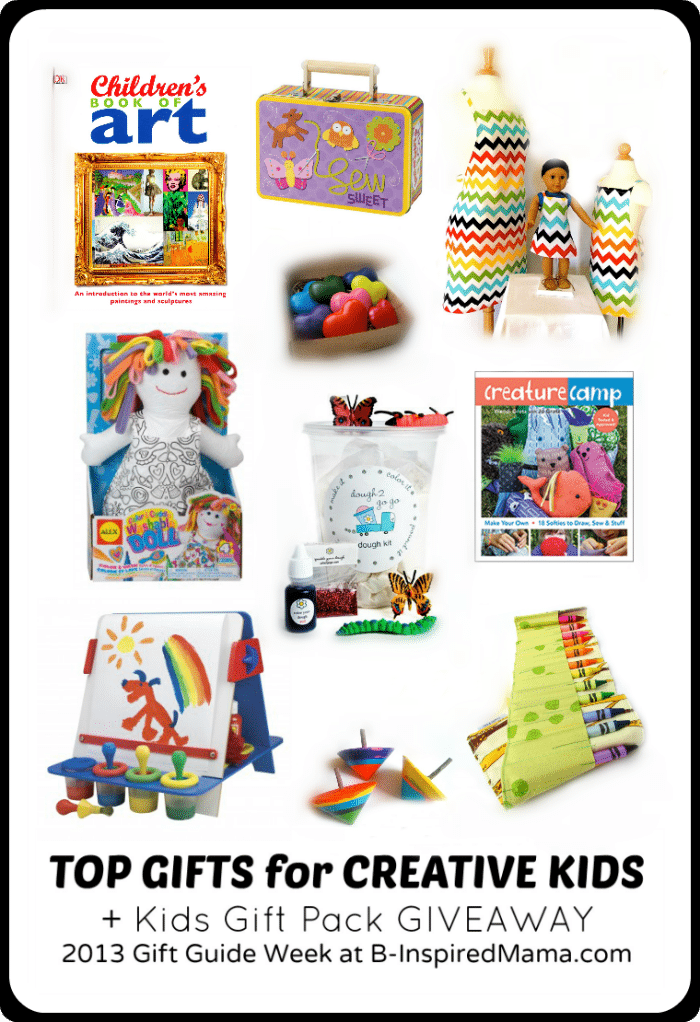 Top Gifts for Creative Kids Gift Guide + a Kids Gift Pack Giveaway at B-Inspired Mama