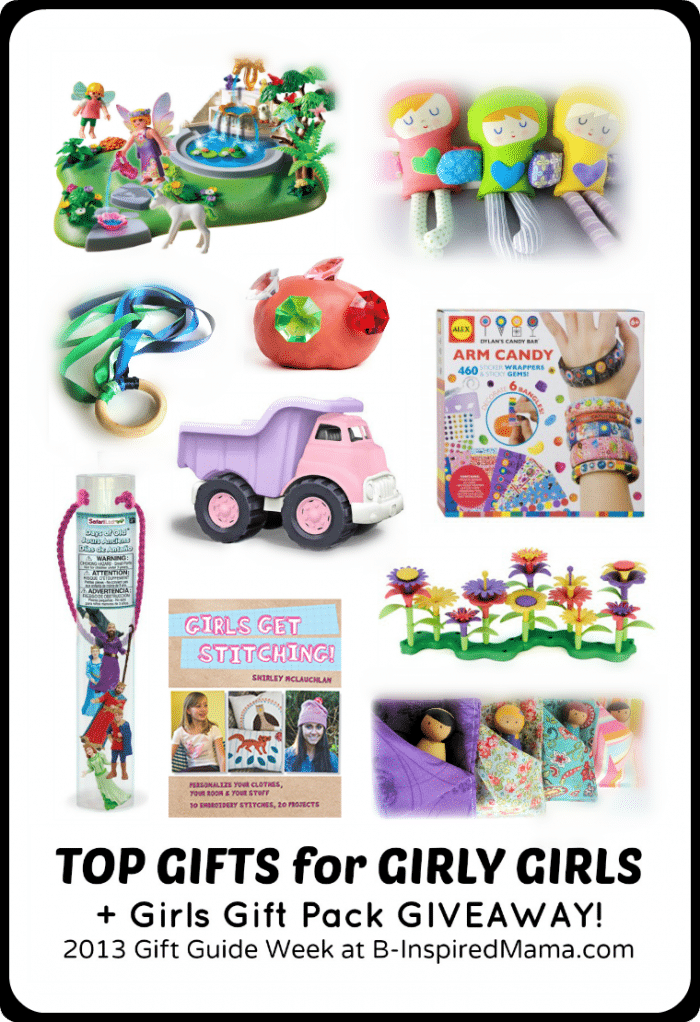 Top Gifts for Girly Girls Gift Guide + a Girls Gift Pack Giveaway at B-Inspired Mama