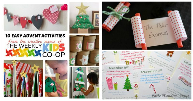 Advent Calendar Art Lesson : Easy advent calendar activities for kids b inspired mama