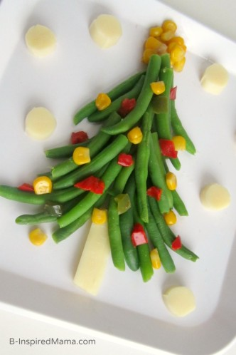 A Fun Veggie Christmas Tree - Vegetables for Kids - Sponsored by Frozen Food Foundation at B-Inspired Mama