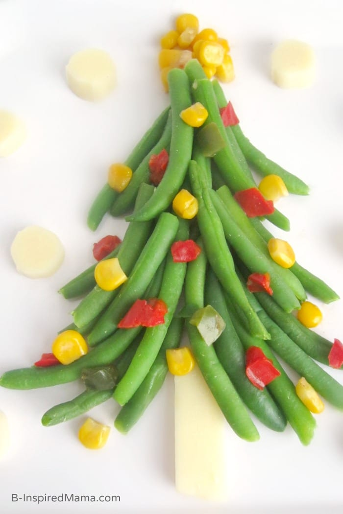 Christmas Tree - Vegetables for Kids - Sponsored by Frozen Food Foundation at B-Inspired Mama
