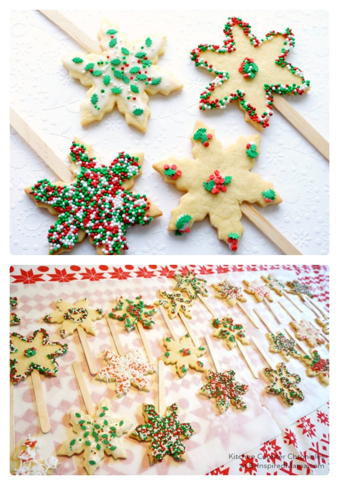 Colorful Kids Holiday Sugar Cookie Pops at B-Inspired Mama