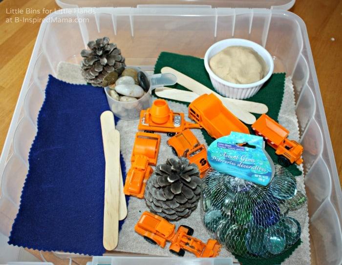 Construction Themed - Easy Sensory Bin Gift Ideas at B-Inspired Mama