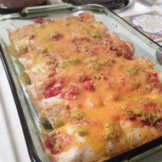 Easy Leftover Turkey and Spinach Enchiladas at B-Inspired Mama