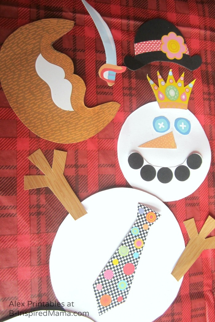 Fun Snowman Dress-Up - Free Printables for Kids from Alex Toys at B-Inspired Mama