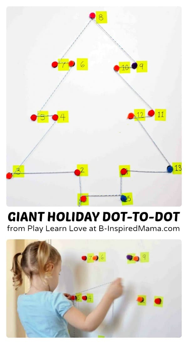 Giant Holiday Dot-to-Dot Counting Games at B-Inspired Mama
