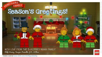 LEGO Minifigure Holiday Family Cards - Sponsored by LEGO at B-Inspired Mama