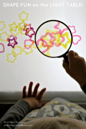 Learning Shapes on the Light Table with And Next Comes L at B-Inspired Mama