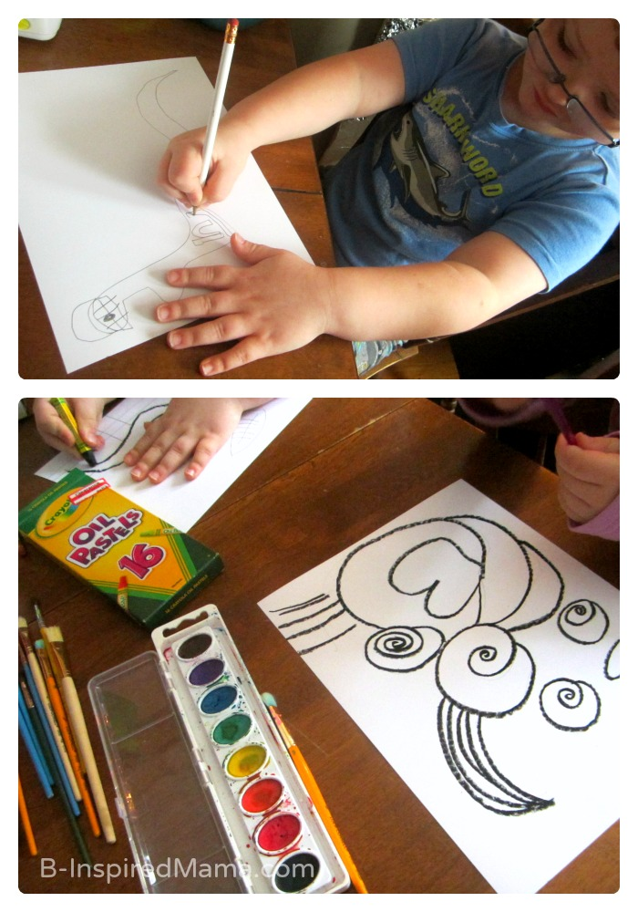 Making Kid Art Posters for Christmas Gifts - Sponsored by Sponsored by #WalgreensApp #shop #cbias - B-Inspired Mama