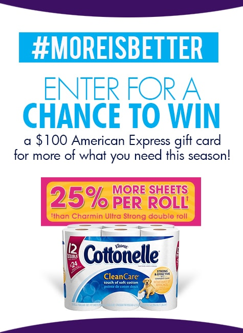 More Is Better Giveaways from Cottonelle - B-Inspired Mama