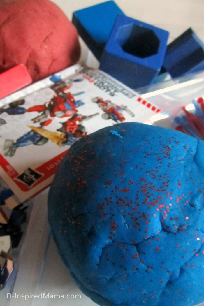 Transformers Inspired Homemade Playdough Recipe at B-Inspired Mama