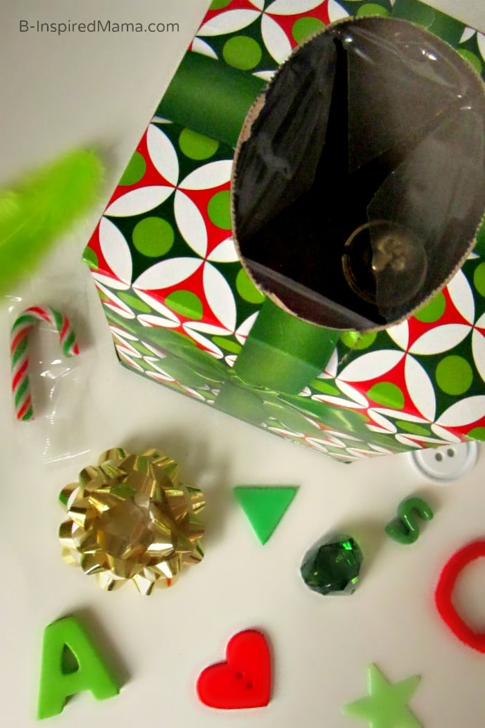 What's Inside - DIY Holiday Touch and Feel Box with Kleenex at B-Inspired Mama
