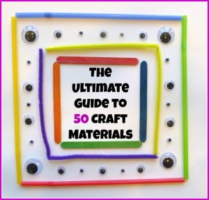 The Ultimate Guide to 50 Craft Materials at Craftulate - B-Inspired Mama