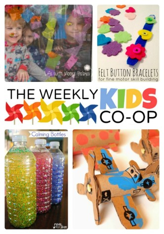Colorful Kids Activities at The Weekly Kids Co-Op at B-Inspired Mama