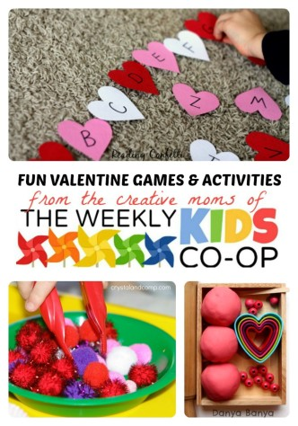 Fun Valentine Games and Activities from The Weekly Kids Co-Op at B-Inspired Mama