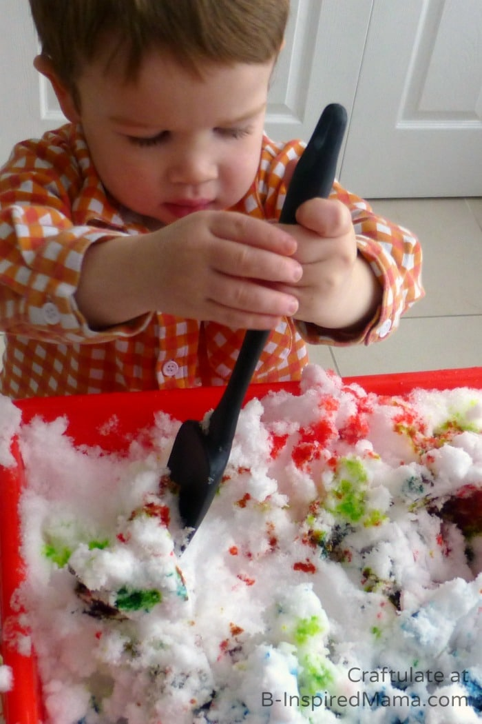 Indoor Play and Snow Painting at B-Inspired Mama