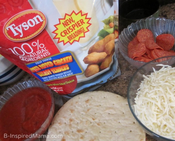 Pizza ingredients - Super easy homemade Valentine's Day pizza - Not delivery!