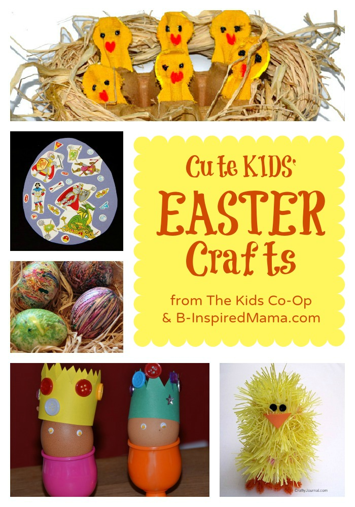Kids Easter Crafts at B-Inspired Mama
