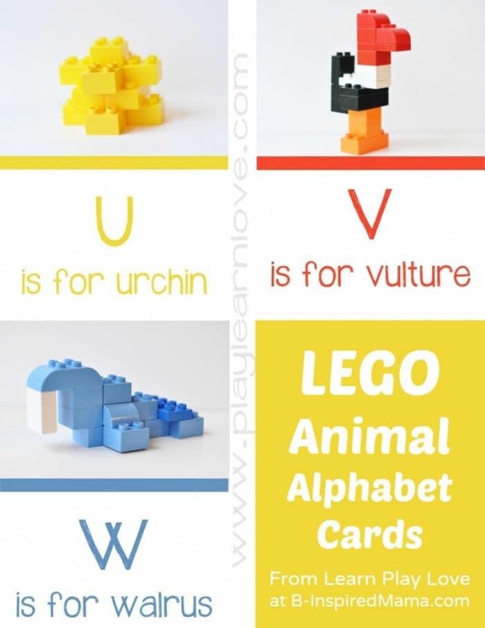 Lego alphabet cards