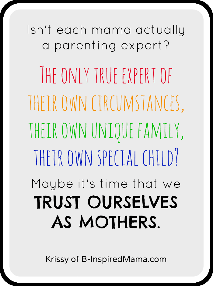 Maybe We Are the Parenting Experts - B-Inspired Mama