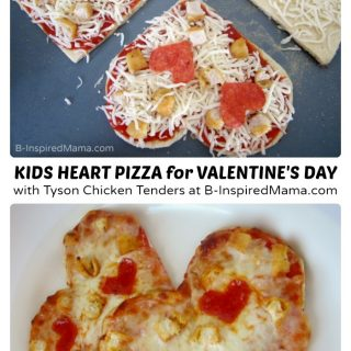 Super Simple Heart Shaped Valentines Day Pizza