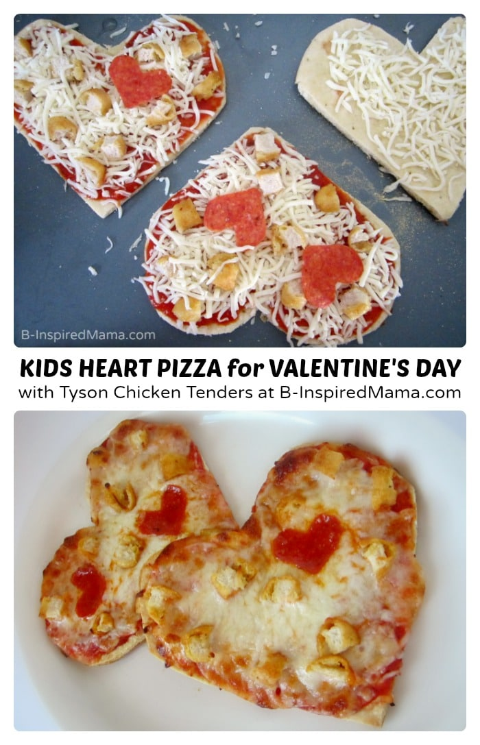 Super easy homemade Valentine's Day pizza - Not delivery!