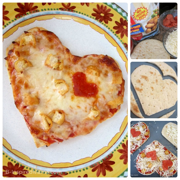 Easy to make homemade heart shaped Valentine's Day pizza - Not delivery!
