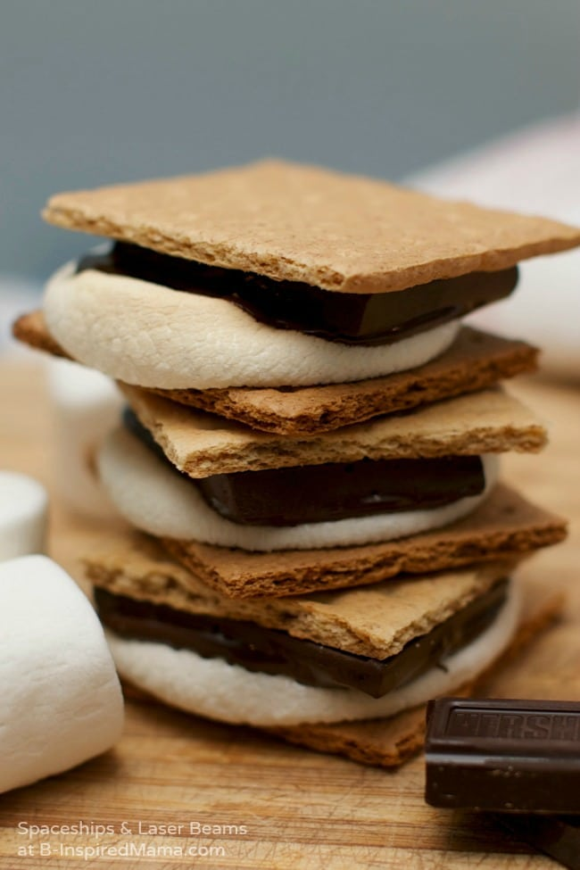 Easy Indoor S'Mores Recipe - Get the Kids in the Kitchen with B-Inspired Mama