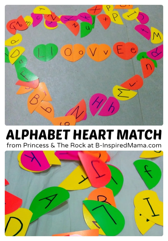 Kids Alphabet Matching Hearts at B-Inspired Mama