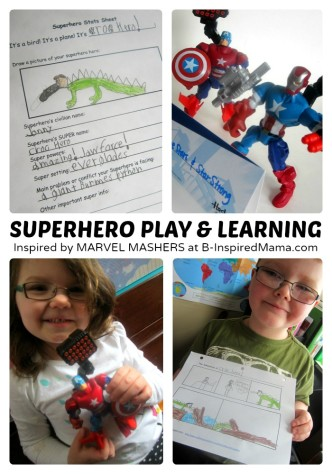 Make Your Own Superhero Play + Comic Printable - #Sponsored #MyMashUp at B-Inspired Mama