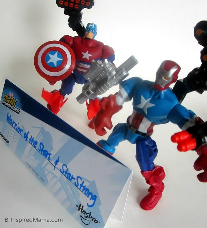 Make Your Own Superhero Toys + Comic Printable - #Sponsored #MyMashUp at B-Inspired Mama