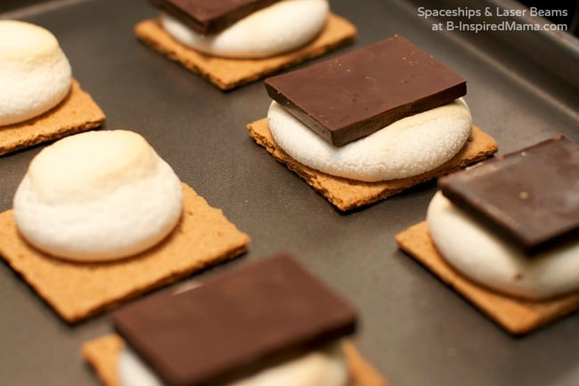 Making Indoor S'Mores - A Kids in the Kitchen Recipe at B-Inspired Mama
