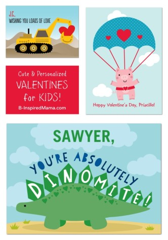 Personalized Kids Valentines - Sponsored by Treat - at B-Inspired Mama