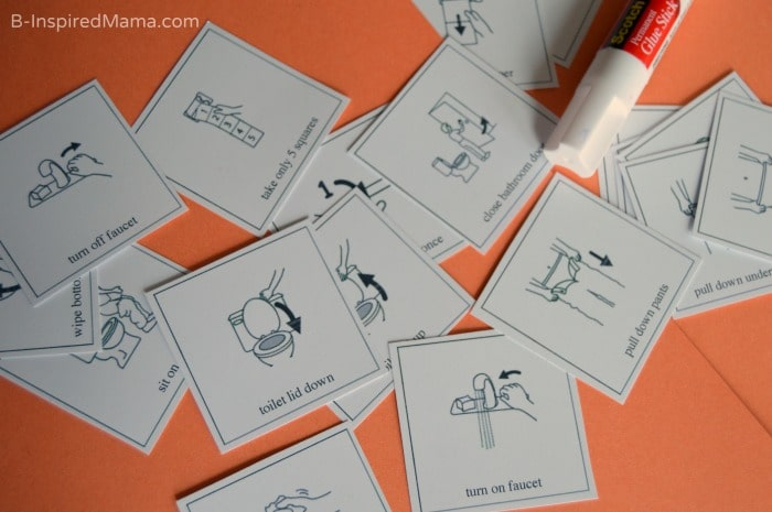 Picture Cards for a Visual Schedule for Kids Bathroom Habits - #sponsored #CtnlCareRoutine #PMedia - B-Inspired Mama