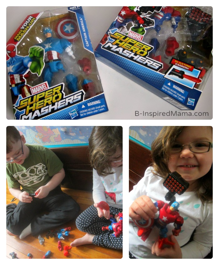 Playing - Make Your Own Superhero Toys + Comic Printable - #Sponsored #MyMashUp at B-Inspired Mama