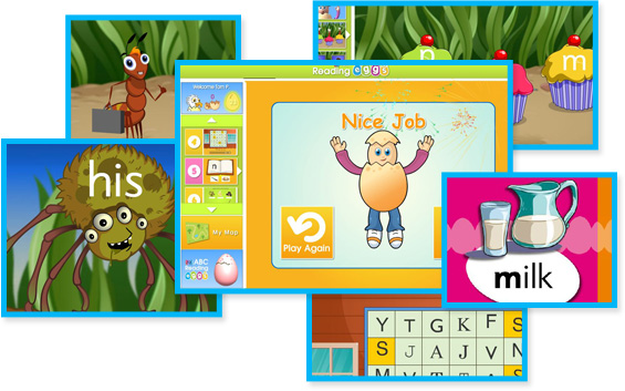 Reading Eggs Screenshots - + more info on how Reading Eggs can help you child learn to read