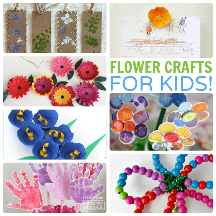 30 Fun And Creative Flower Crafts For Kids