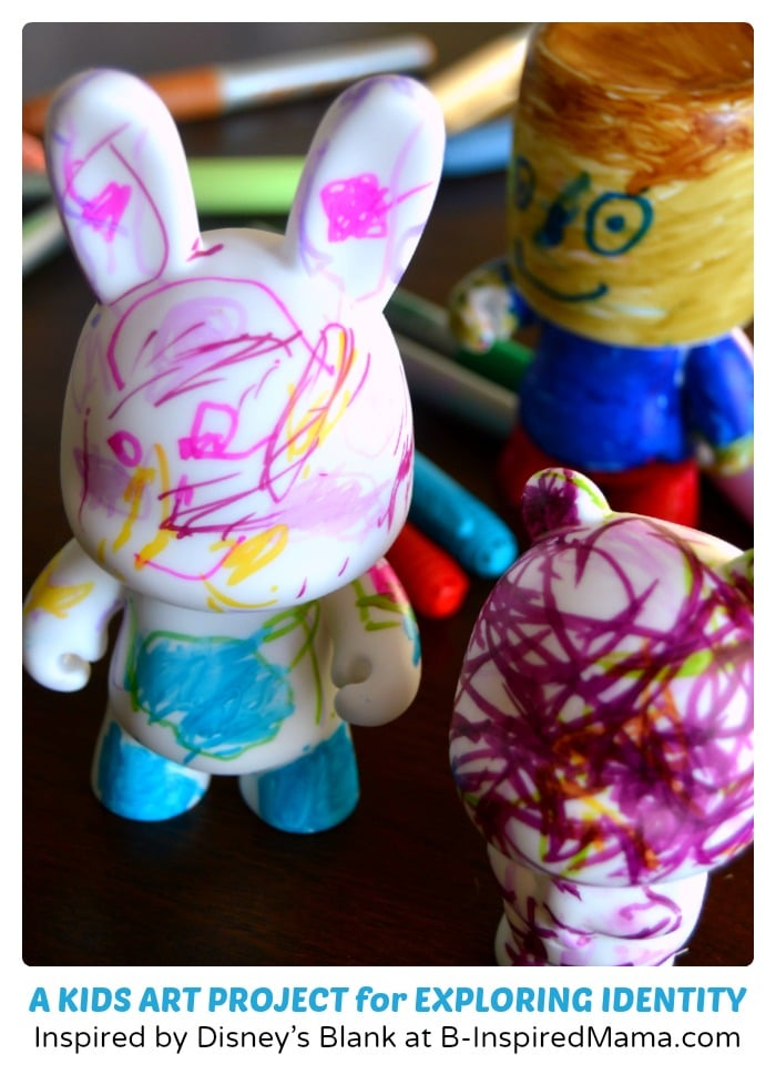 A Kids Art Project for Exploring Identity (#Sponsored by #BlankandBow #CleverGirls) at B-Inspired Mama