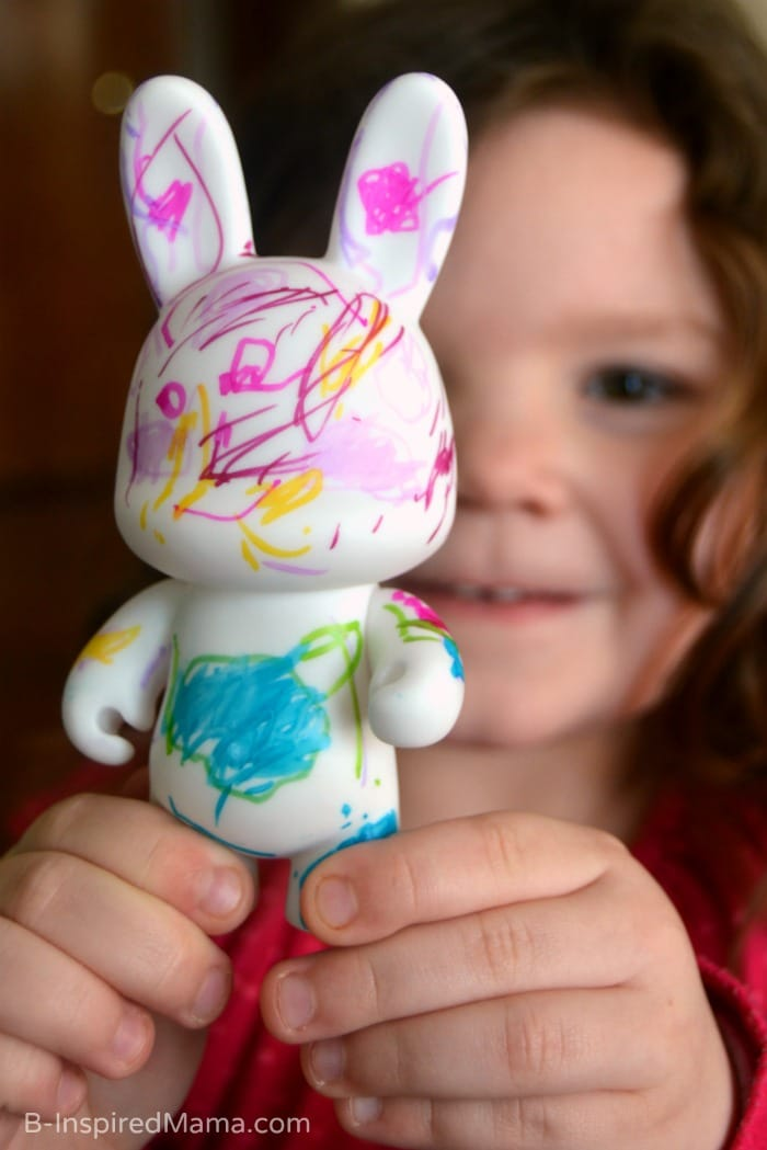 A Vinylmation Kids Art Project for Exploring Identity (#Sponsored by #BlankandBow #CleverGirls) at B-Inspired Mama