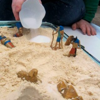 Egyptian Cloud Dough Sensory Play at B-Inspired Mama