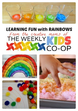 Make Learning Fun with Rainbow Activities for Kids from The Weekly Kids Co-Op at B-Inspired Mama