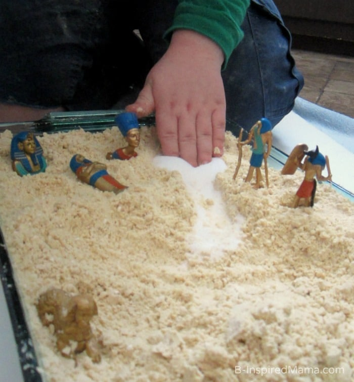 Salt and Cloud Dugh Egyptian Sensory Play at B-Inspired Mama