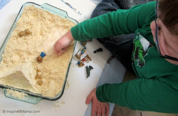 Salt and Cloud Dugh for Egyptian Sensory Play at B-Inspired Mama