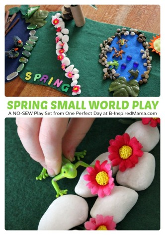 Spring Small World Kids Play at B-Inspired Mama
