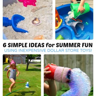 6 Simple and Fun Summer Activities for Kids using Inexpensive Dollar Store Toys - B-Inspired Mama