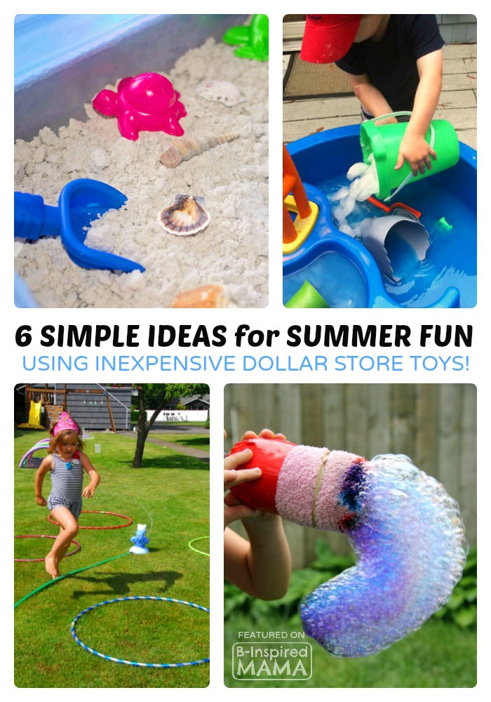 6 Simple and Fun Summer Activities for Kids using Inexpensive Summer Toys - B-Inspired Mama