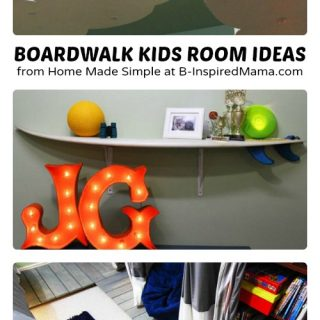 Boardwalk Kids Room Ideas from Home Made Simple at B-Inspired Mama