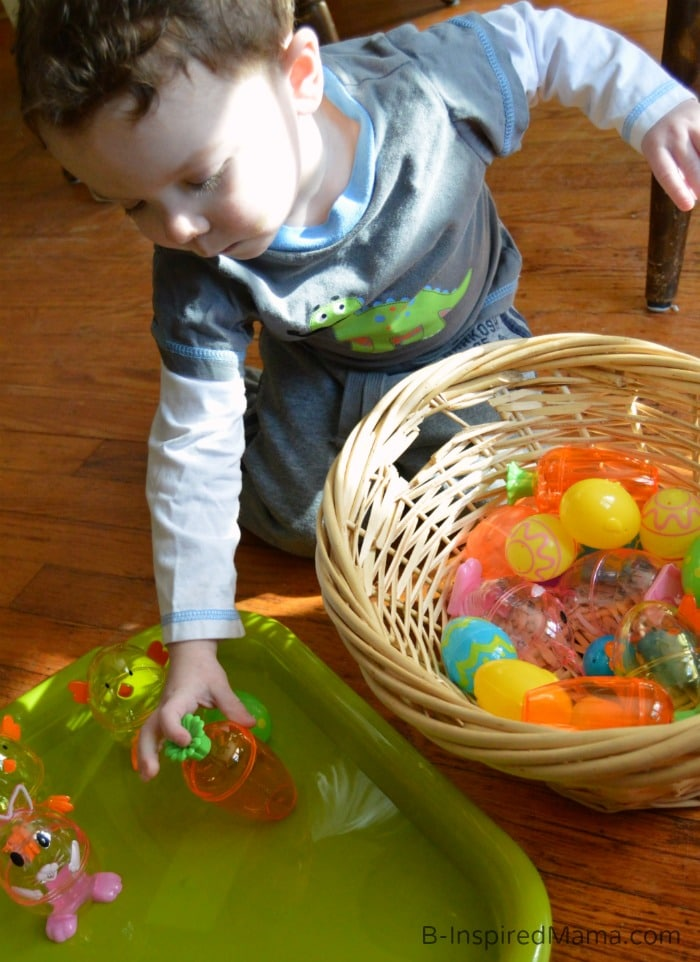 DIY Toys with Plastic Easter Eggs at B-Inspired Mama